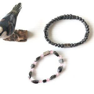 Jewelry - His Her Hemalite Bracelets Unique Gift